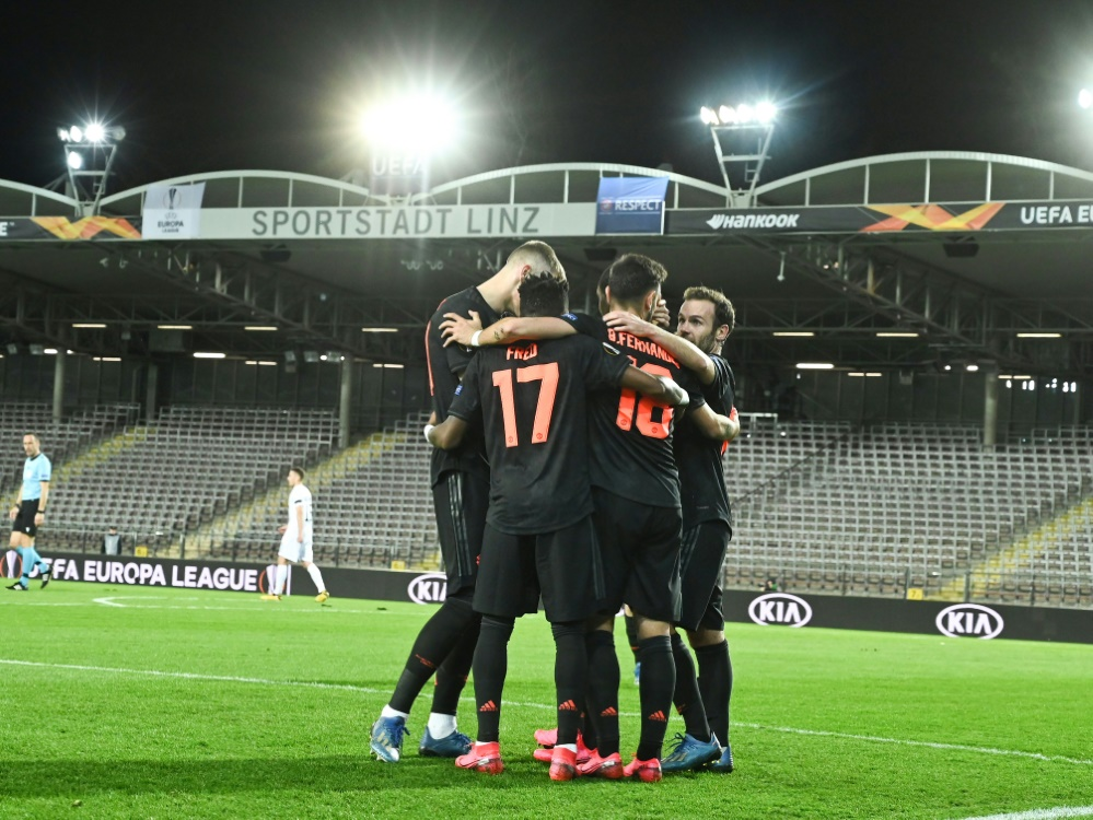 Mancheester United mit klarem Sieg in Linz