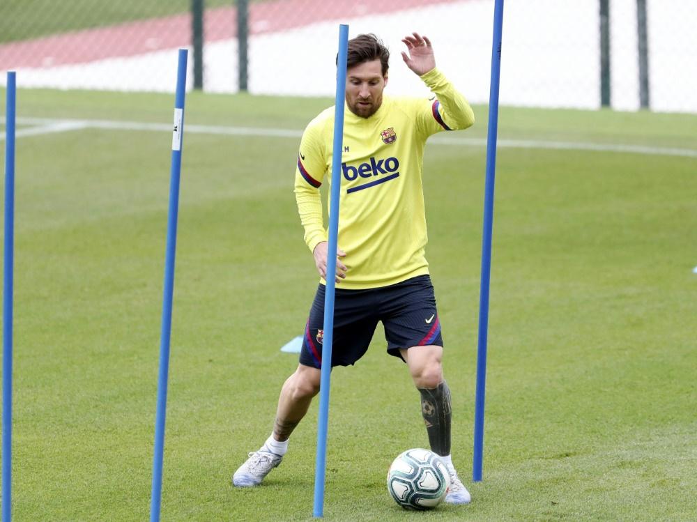 Auch Barca ist ins Gruppentraining eingestiegen