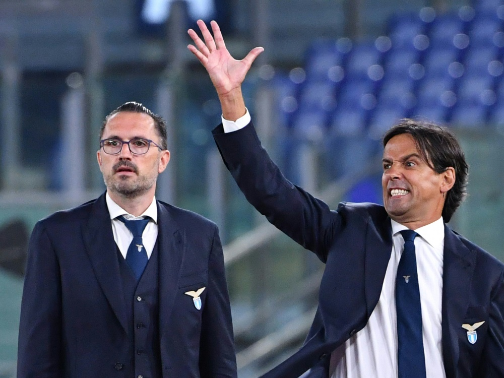 Inzaghi (r.) steigt mit Benevento auf