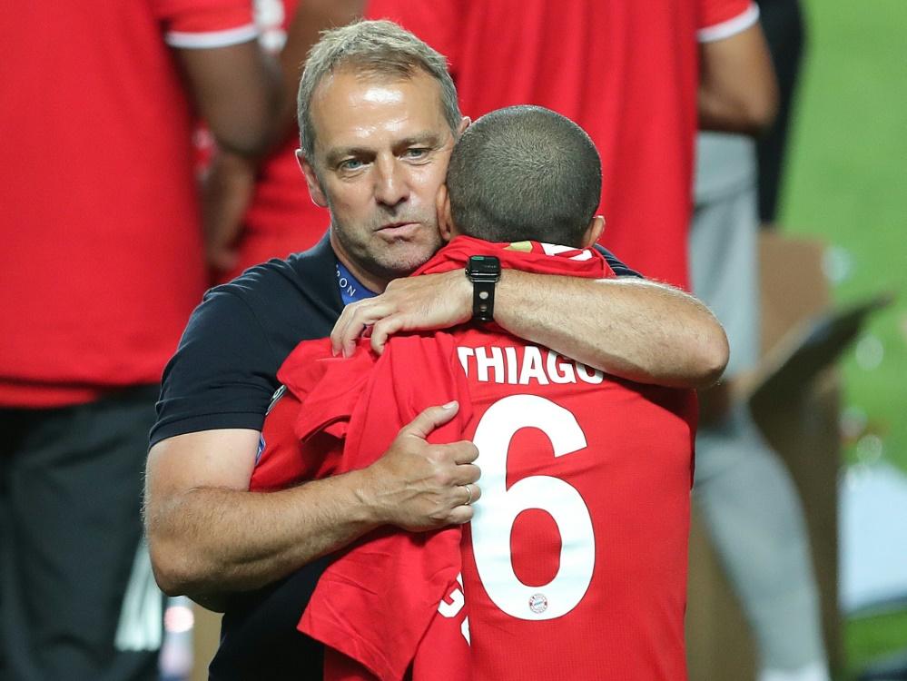 Flick umarmte Thiago nach Abpfiff lange und innig