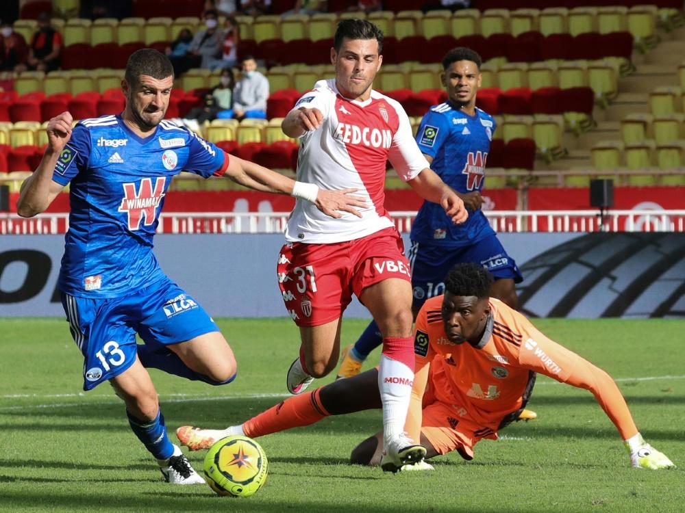 Ligue 1: AS Monaco bezwingt Racing Straßburg 3:2