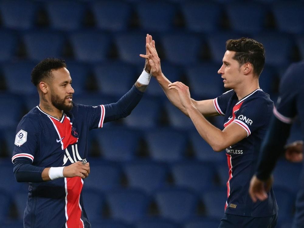Neymar und Julian Draxler trafen gegen SCO Angers