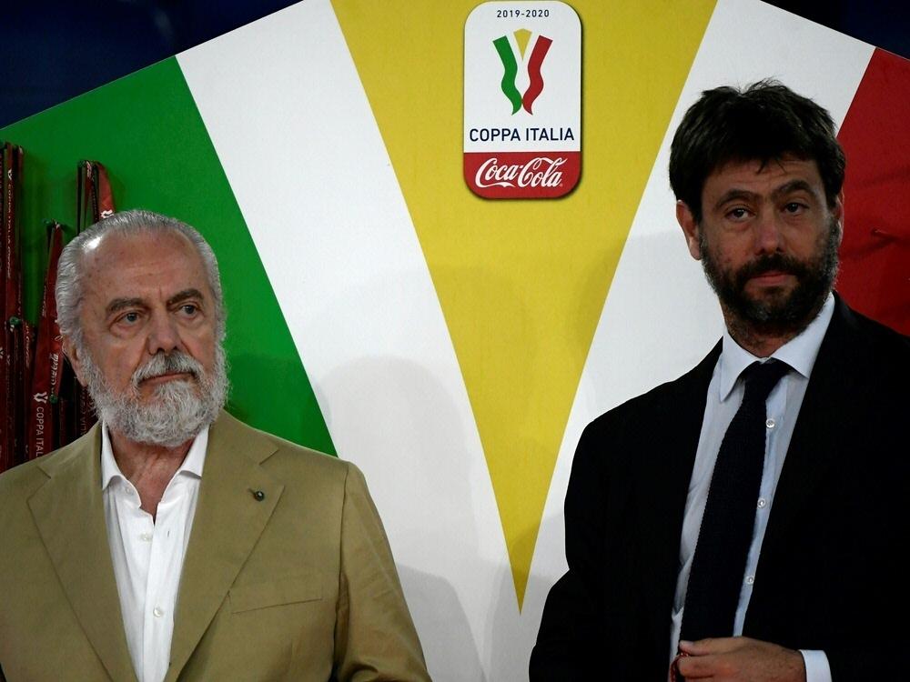 Aurelio De Laurentiis (l.) und Andrea Agnelli
