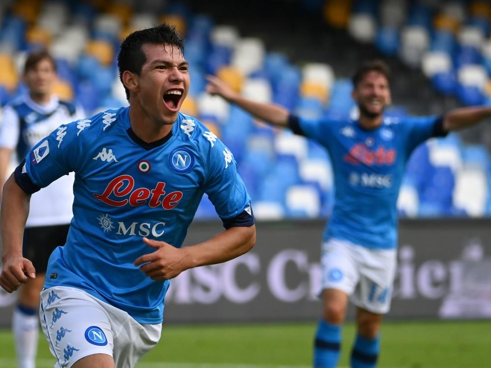 Hirving Lozano trifft gegen Bergamo doppelt