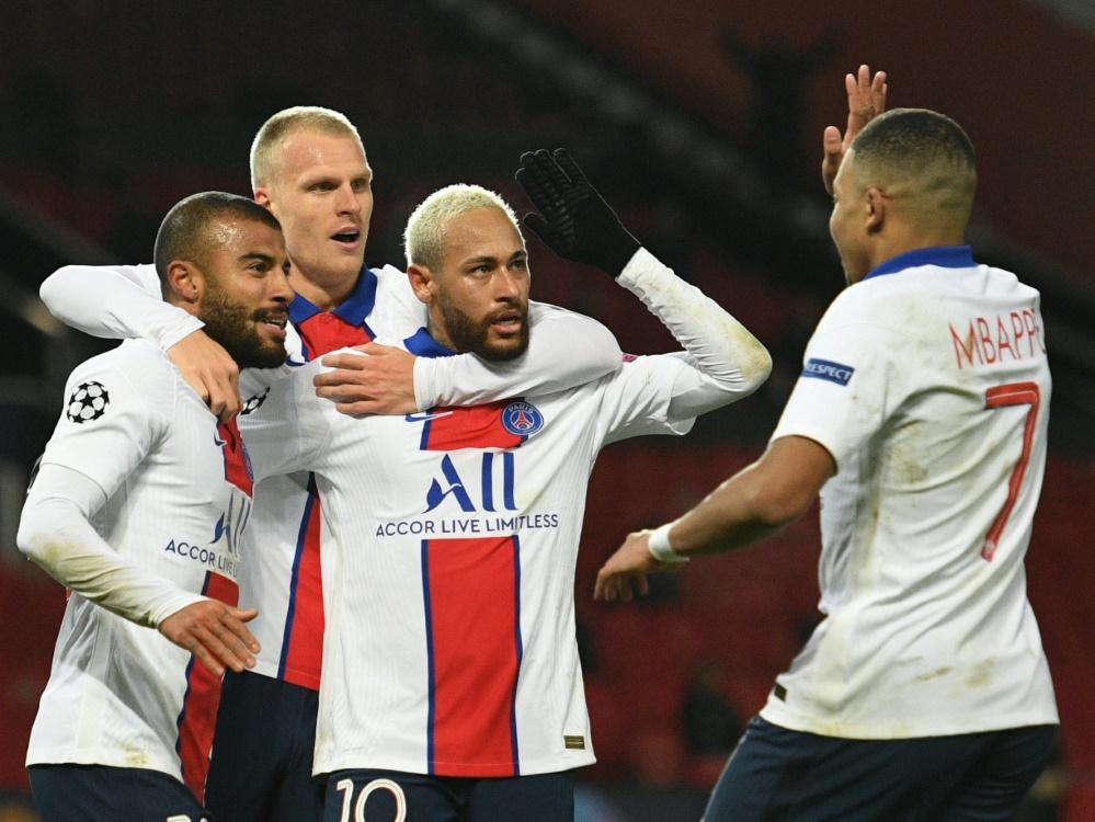 Neymar und Paris gewinnen mit 3:1 im Old Trafford
