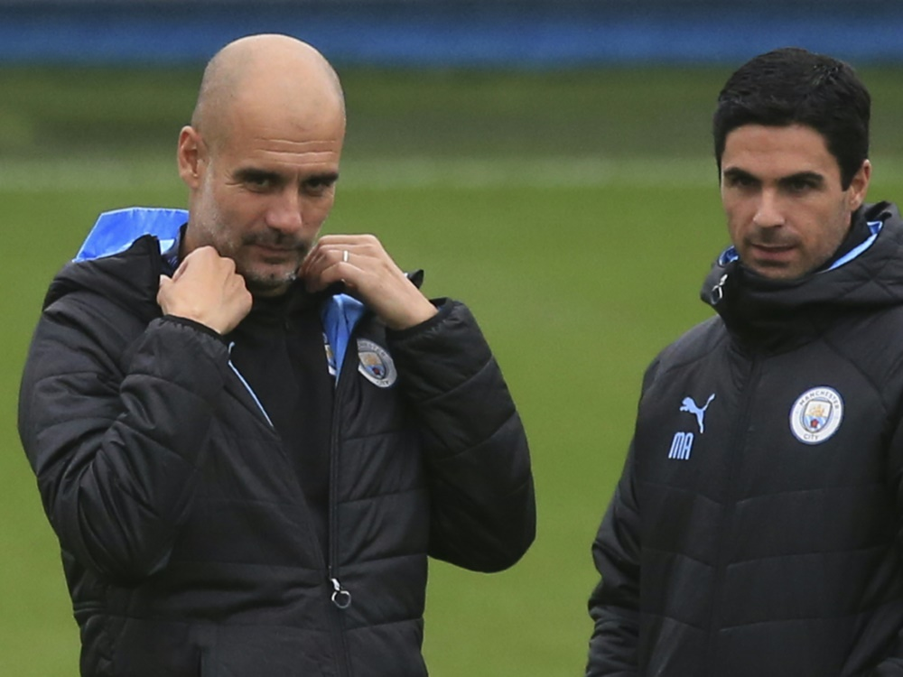 Einst Seite an Seite: Guardiola (l.) und Arteta