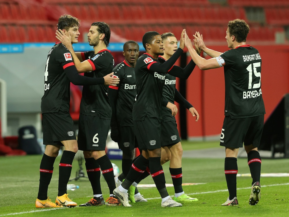 Leverkusen überwintert auf Rang 2 der Bundesliga