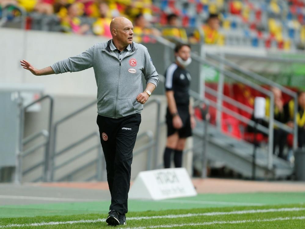 Uwe Rösler bleibt mit Düsseldorf zu Hause ungeschlagen