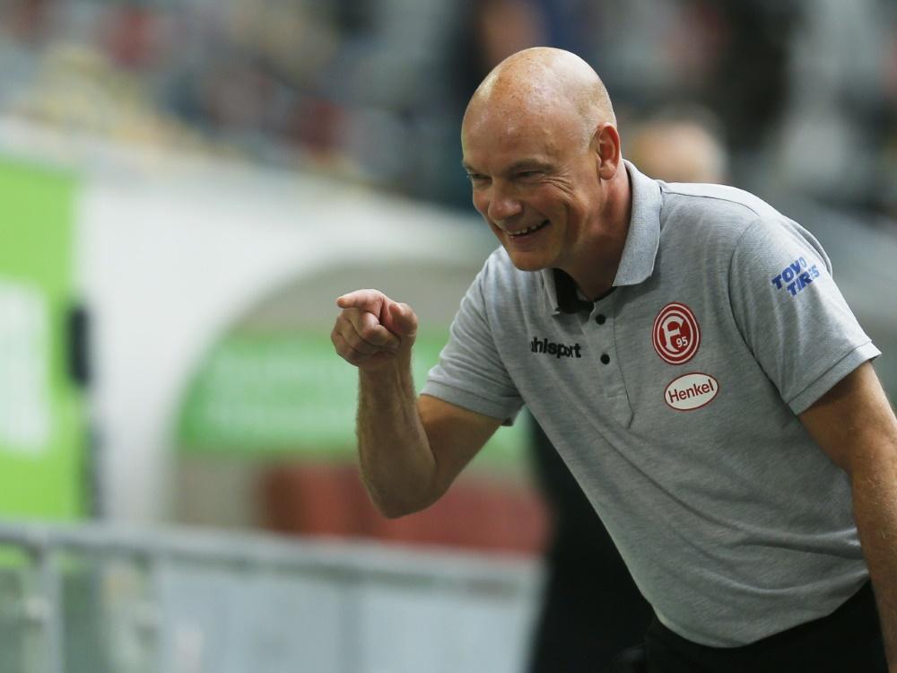 Uwe Rösler bleibt mit Düsseldorf vor Greuther Fürth