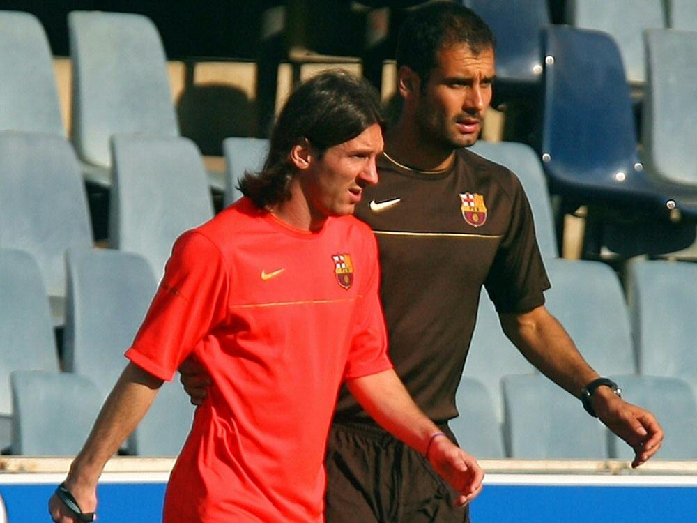 Pep Guardiola förderte Lionel Messi beim FC Barcelona