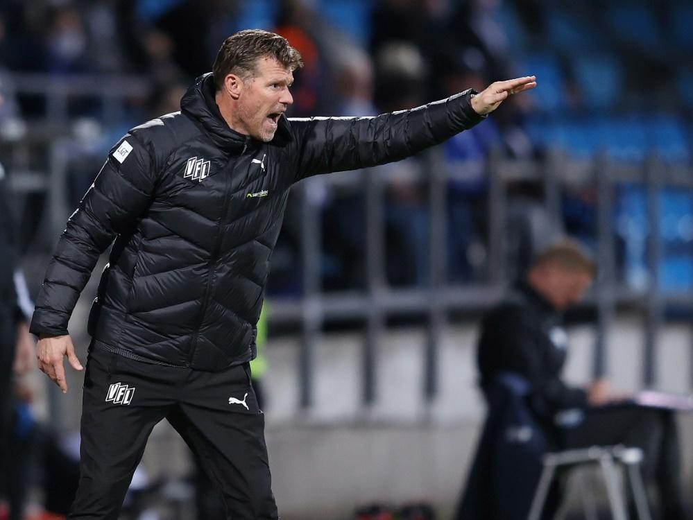 Coach Marco Grote und Osnabrück verlieren auch gegen Aue