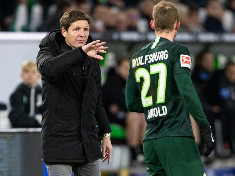 Coach Glasner (l.) und Arnold