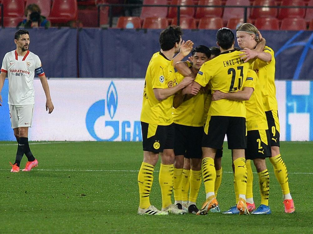 Dortmund gewinnt in Sevilla: Haaland trifft doppelt