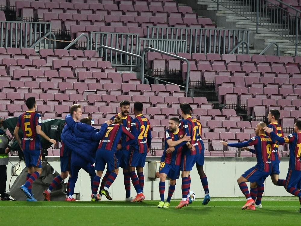 Barca bejubelt Finaleinzug im Pokal