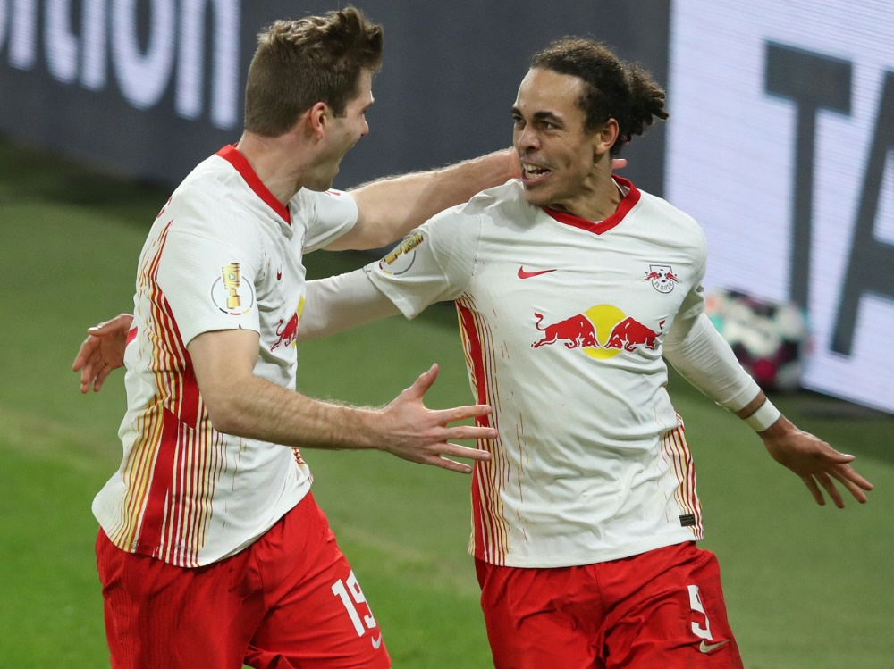 Erzielte das 1:0 der Leipziger: Yussuf Poulsen (r.)