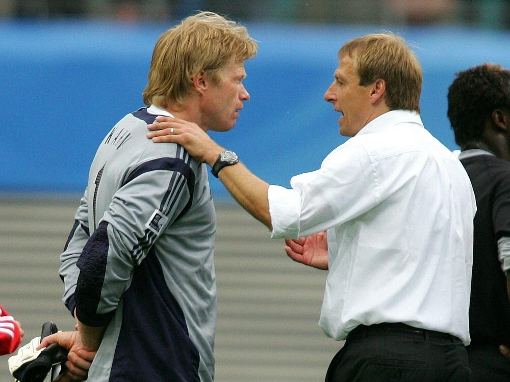 Klinsmann (r.) degradierte Kahn zum Ersatztorwart