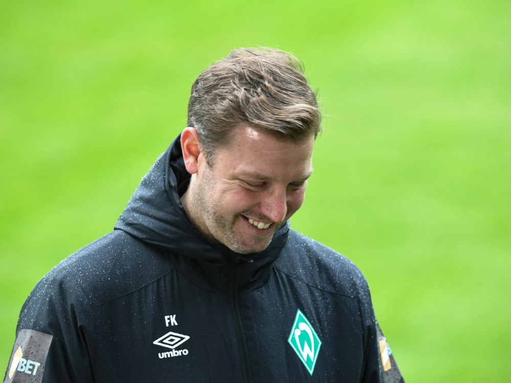 Trainer Florian Kohfeldt und Bremen bezwingen Regensburg