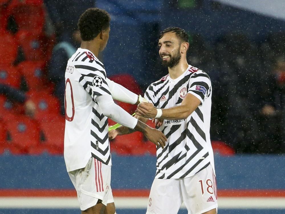 Dank Rashford und Fernandes gewinnt Manchester United
