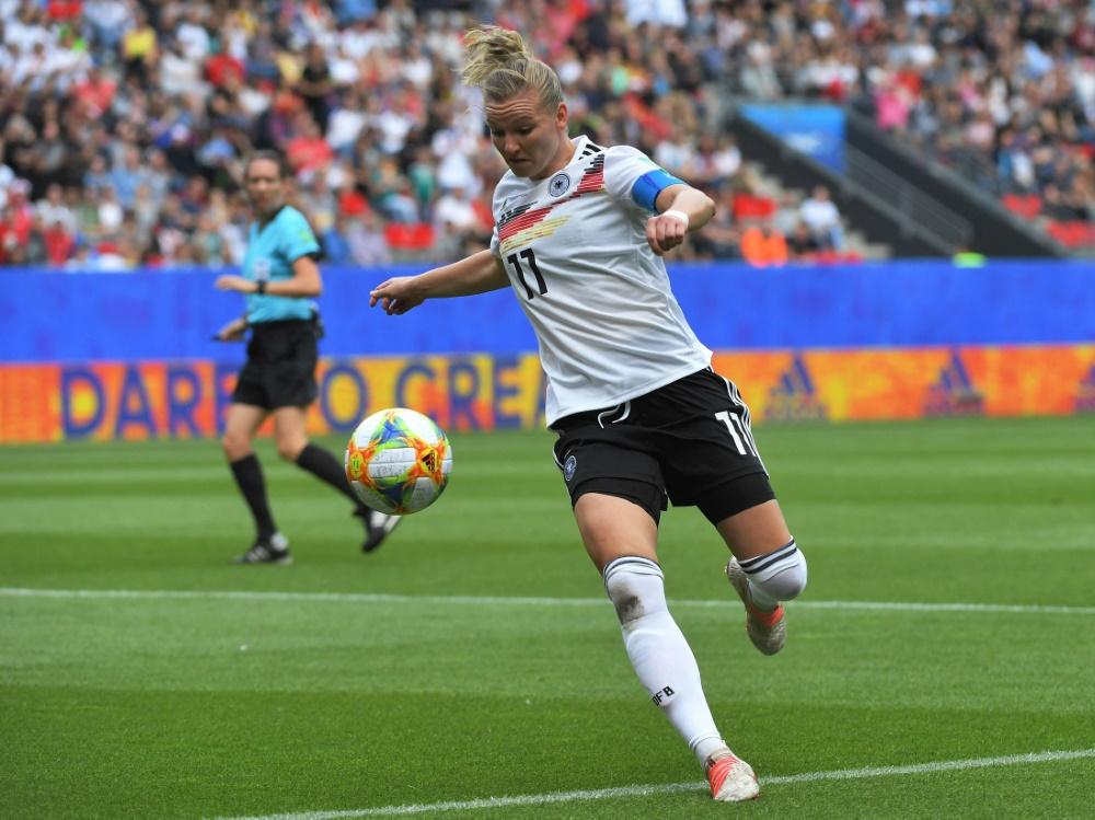 Bereit für das Spiel gegen Norwegen: Alexandra Popp