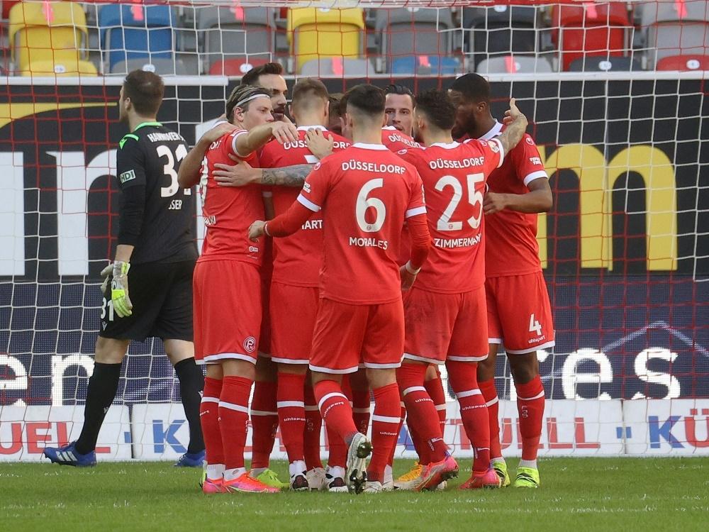 Düsseldorf siegt mit drei Toren gegen Osnabrück