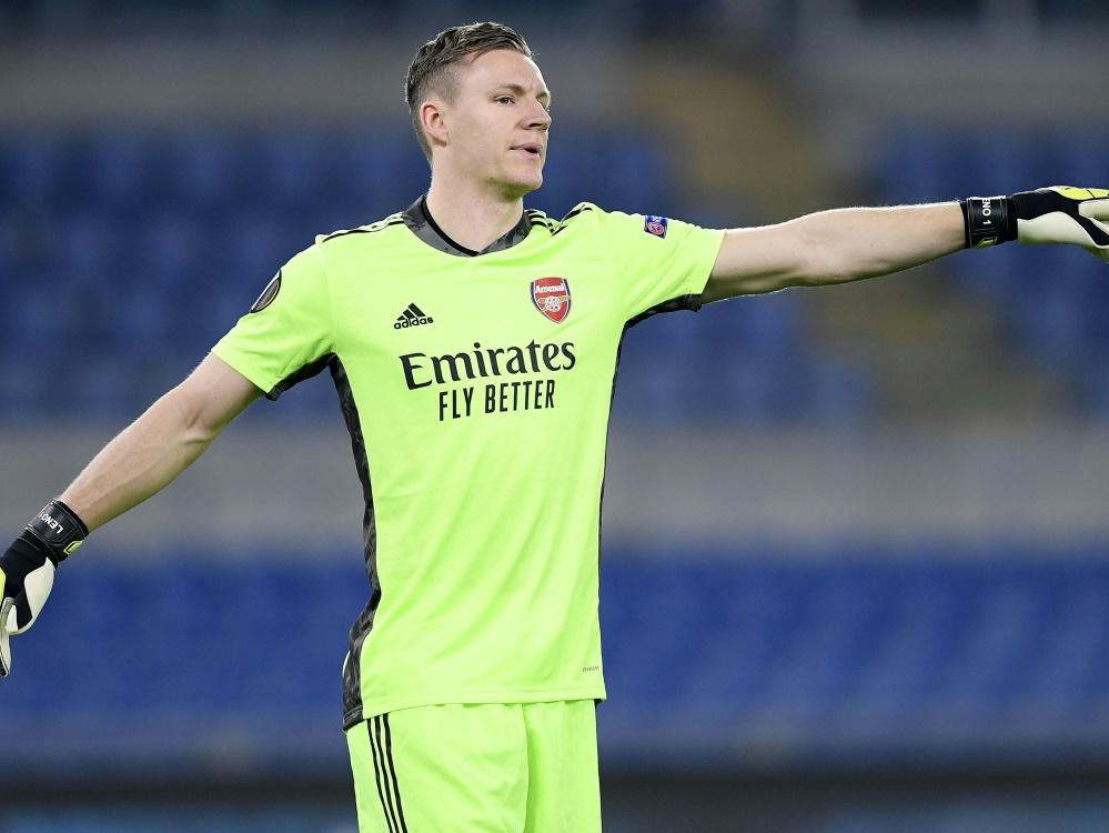 Bernd Leno mit Arsenal in der Europa League zittern