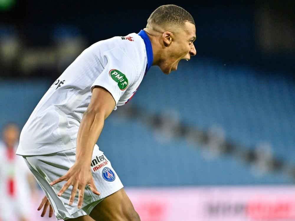 Traf doppelt beim Einzug ins Pokalfinale: PSG-Superstar Kylian Mbappe.