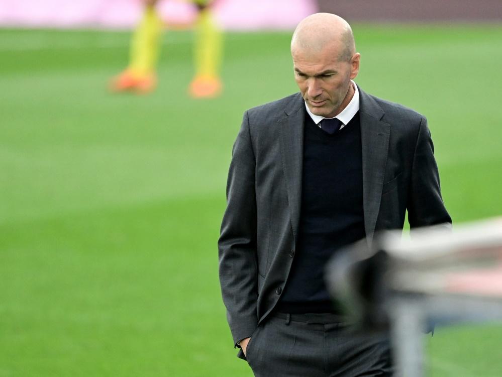Zinedine Zidane erfüllt seinen Vertrag bis 2022 nicht