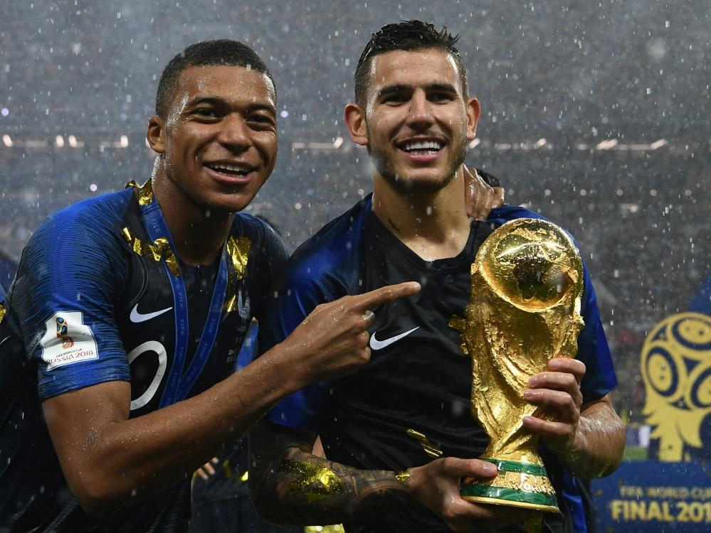 Mbappe und Hernandez gewannen 2018 mit Frankreich die WM