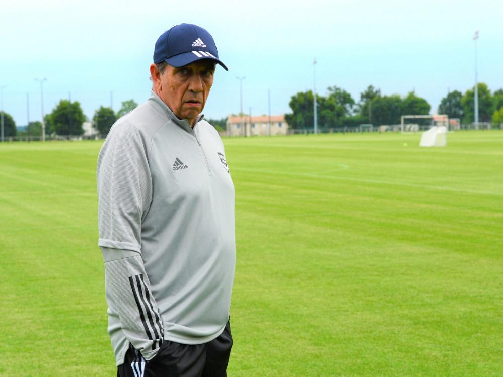 Bordeaux-Coach Jean-Louis Gasset droht der Zwangsabstieg (Foto: SID)