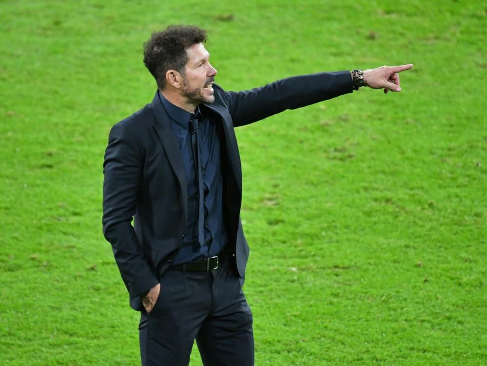 Diego Simeone bleibt Trainer von Atletico Madrid (Foto: SID)
