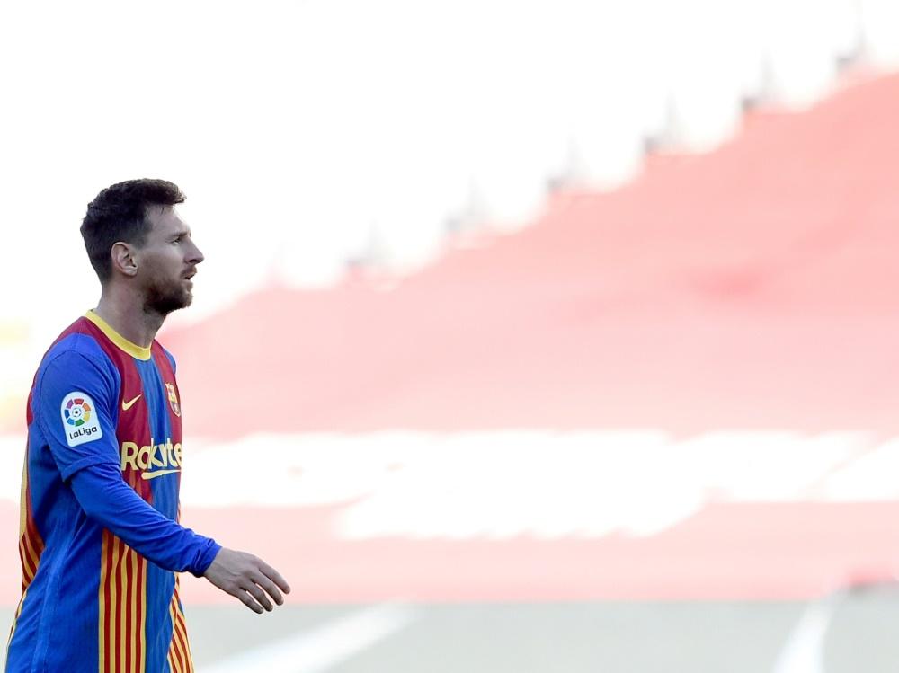 Lionel Messi wird wohl beim FC Barcelona bleiben (Foto: SID)