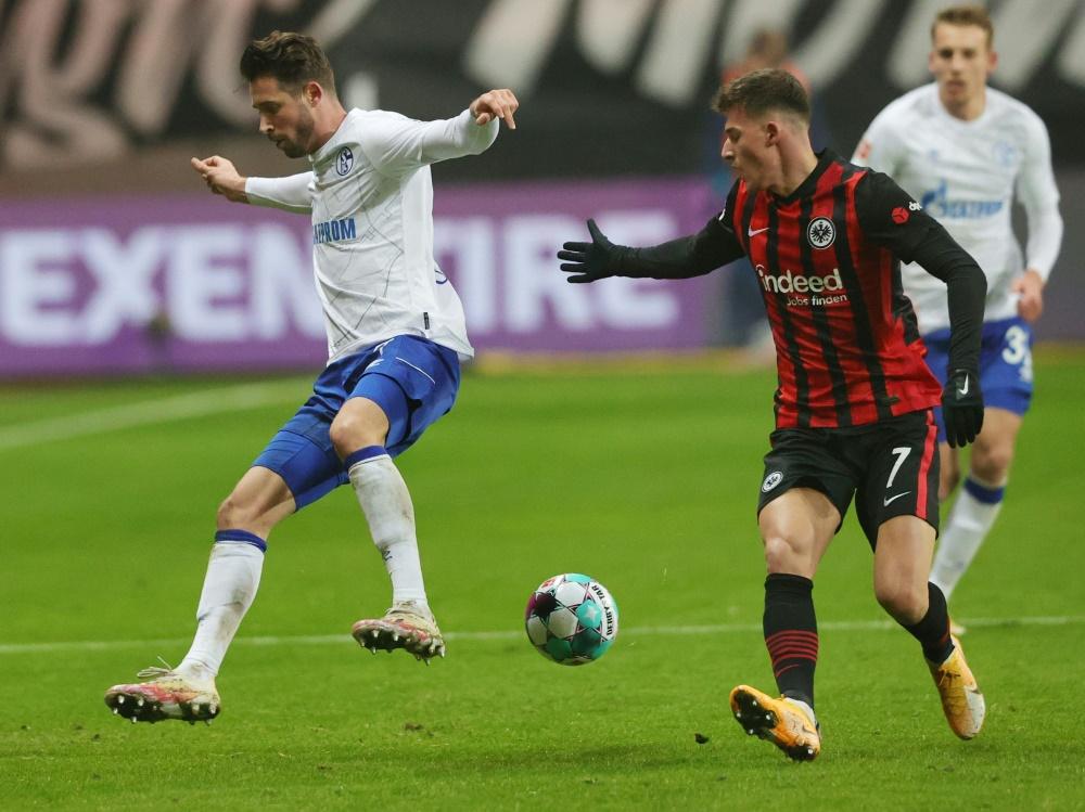 Ajdin Hrustic (r) schoß beide Tore für Frankfurt (Foto: SID)