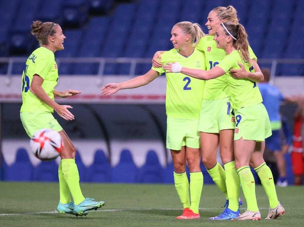 Die Schwedinnen siegen mit einem 4:2 gegen Australien (Foto: SID)