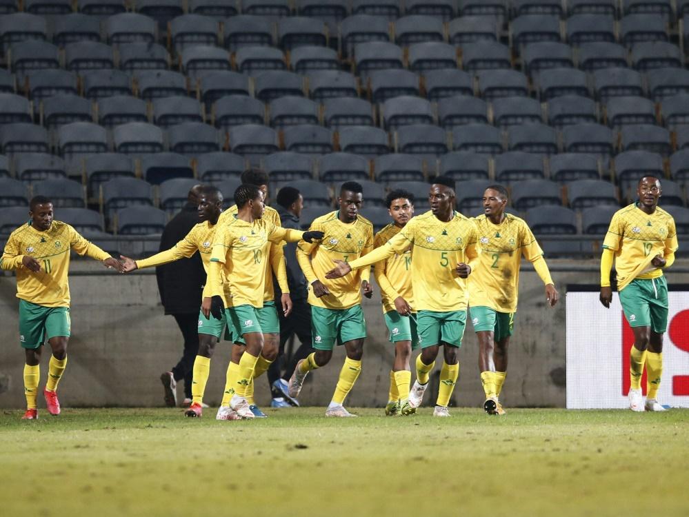 Südafrikas Fußballer mit Sorgen nach Coronafällen (Foto: SID)