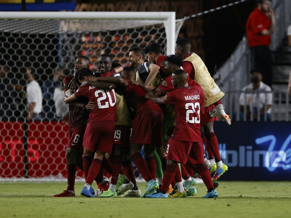 Katar komplettiert Viertelfinale (Foto: SID)