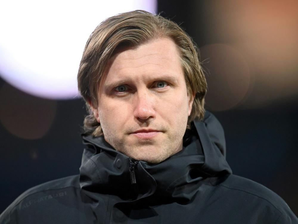 Markus Krösche will volle Auslastung der Stadien (Foto: SID)