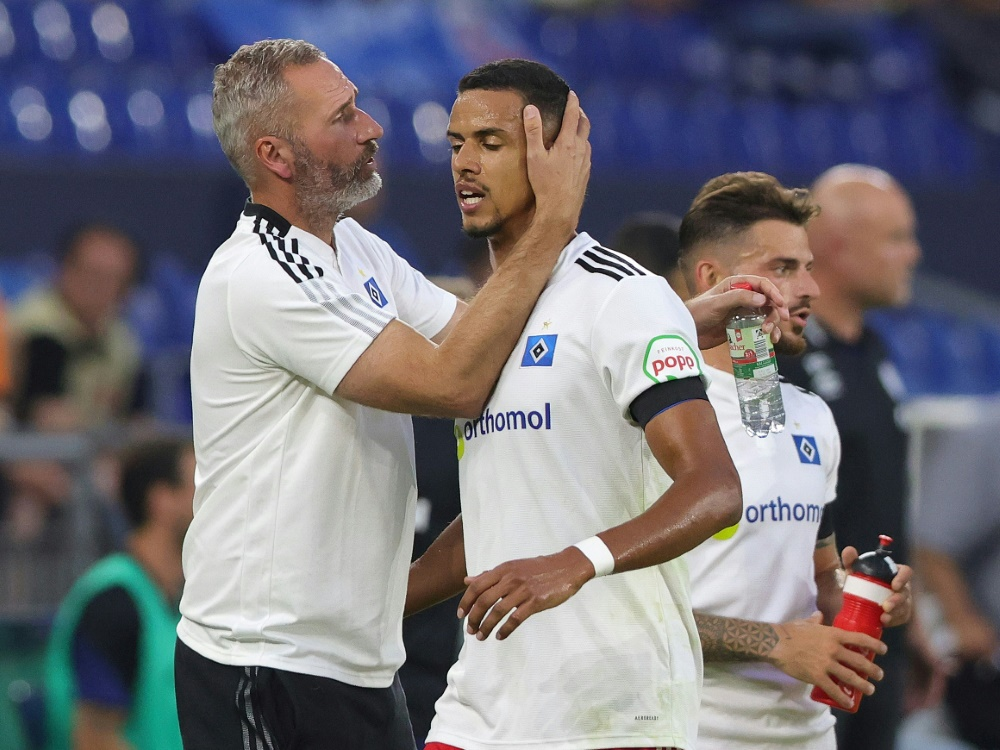 Der Hamburger SV spielt gegen Dynamo Dresden nur 1:1 (Foto: SID)
