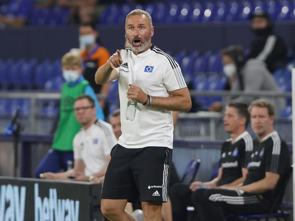 Hamburgs Trainer Tim Walter ärgert sich (Foto: SID)