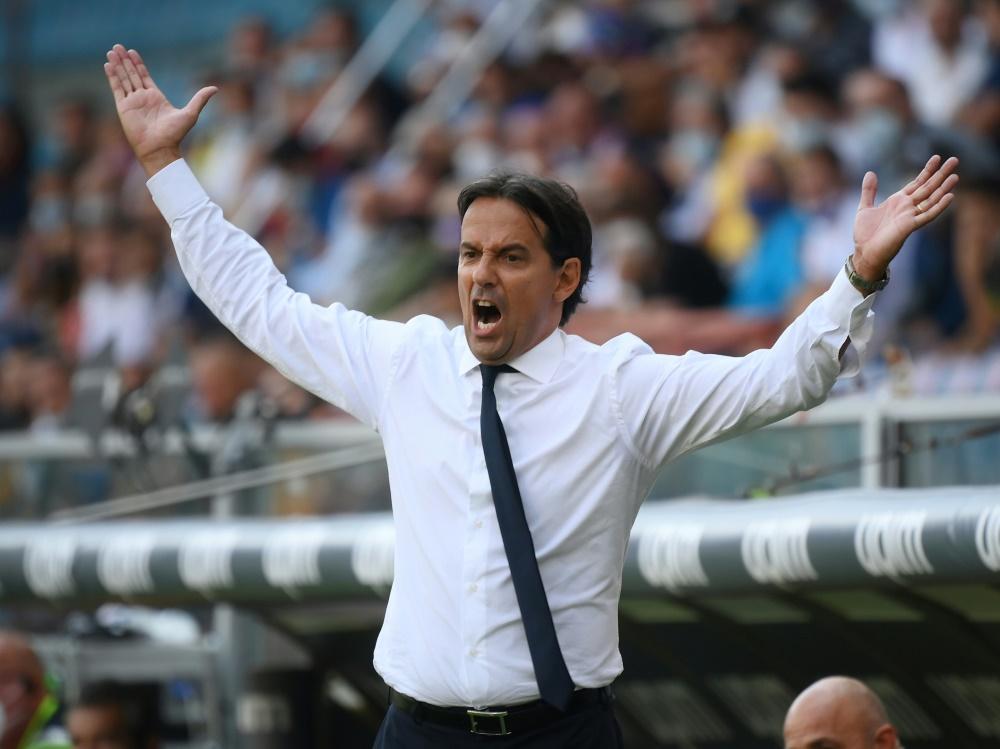 Kein Sieg für Inter und Trainer Simone Inzaghi (Foto: SID)