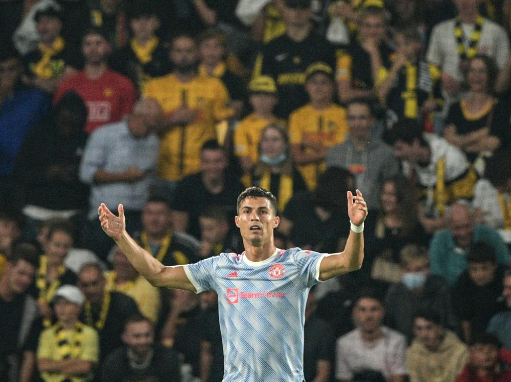 Trotz Rekordtor: Ronaldo und ManU verlieren in Bern (Foto: SID)