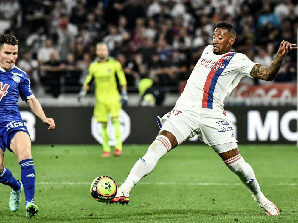 Jerome Boateng bestreitet erstes Spiel für Lyon (Foto: SID)