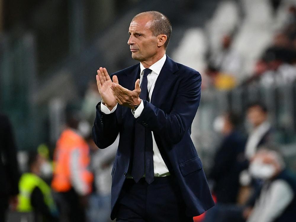 Allegri nach dem Erfolg bei Spezia Calcio erleichtert (Foto: SID)