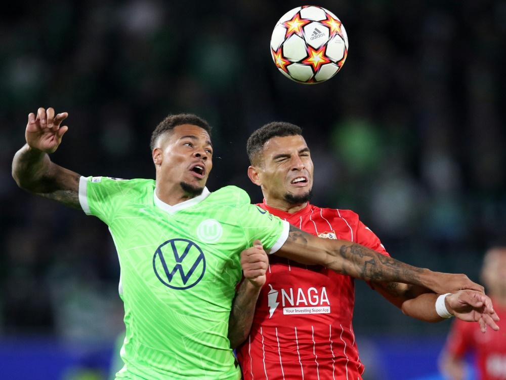 Umkämpftes Spiel zwischen Wolfsburg und Sevilla (Foto: SID)