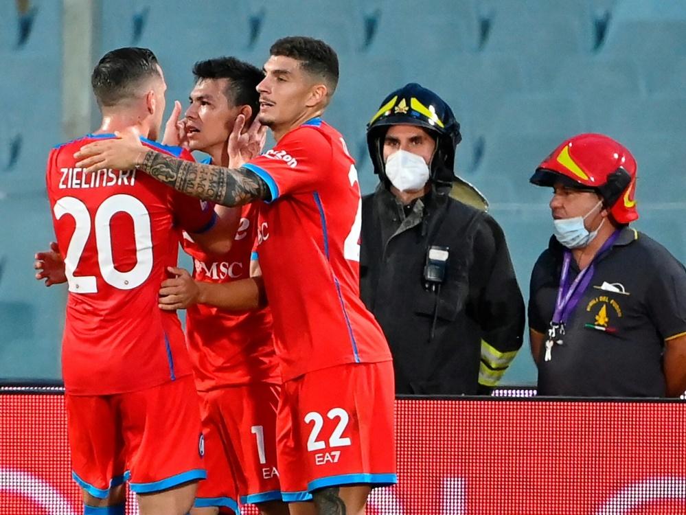 Neapel feiert Sieg gegen die AC Florenz (Foto: SID)