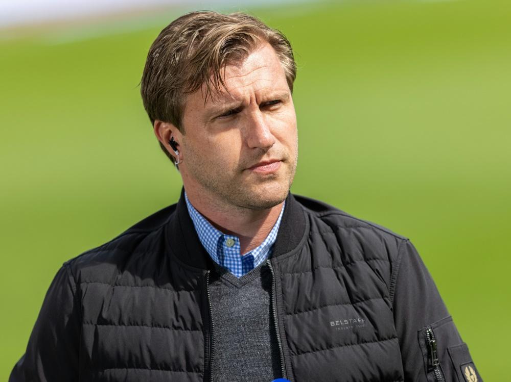 Markus Krösche lobt die Mentalität der Eintracht-Spieler (Foto: SID)