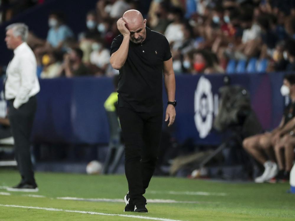 Paco Lopez wurde von UD Levante entlassen (Foto: SID)