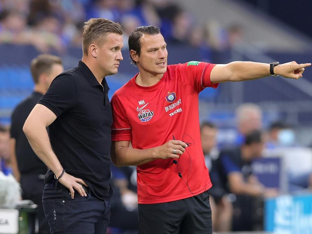 Hensel und Müller übernehmen bei Aue (Foto: SID)