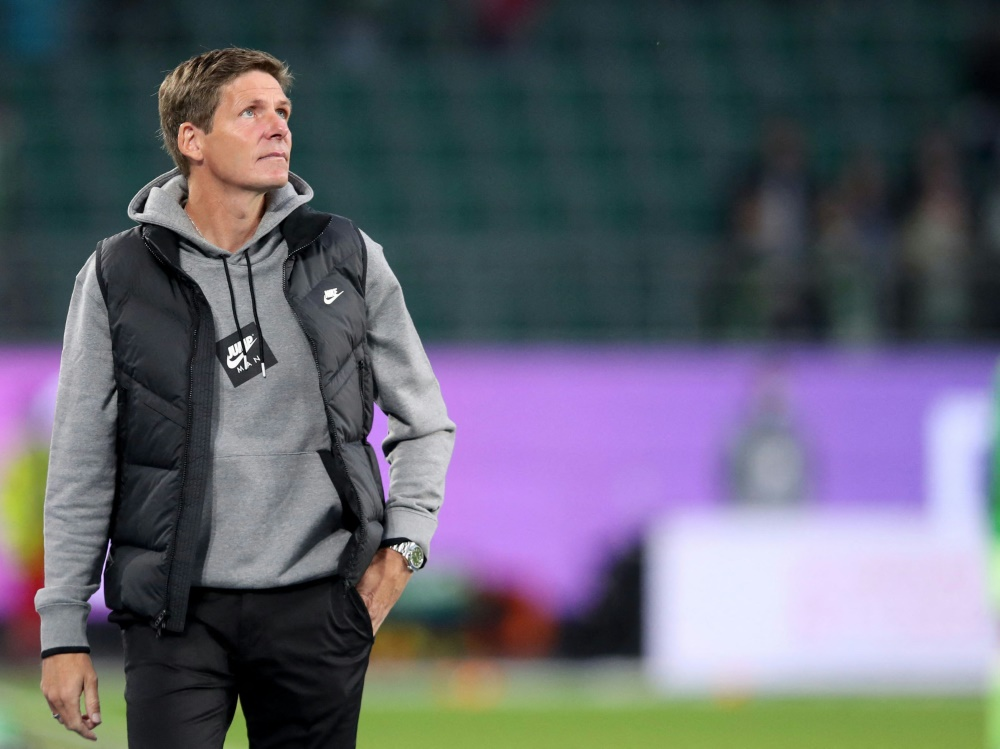 Frankfurt-Trainer Glasner ist noch nicht zufrieden (Foto: SID)