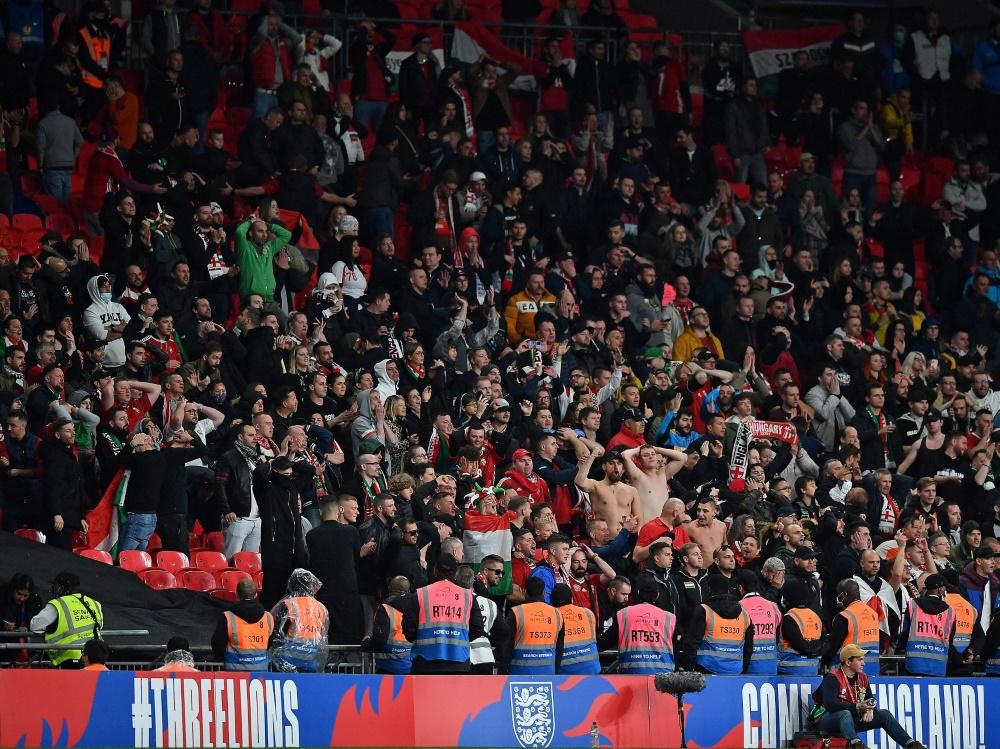 Beim Länderspiel in Wembley kam es zu Ausschreitungen (Foto: SID)