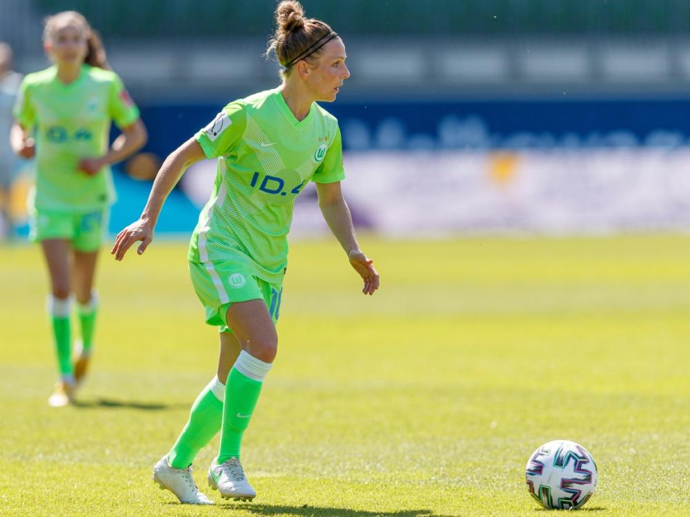 Svenja Huth brachte Wolfsburg in Führung (Foto: SID)
